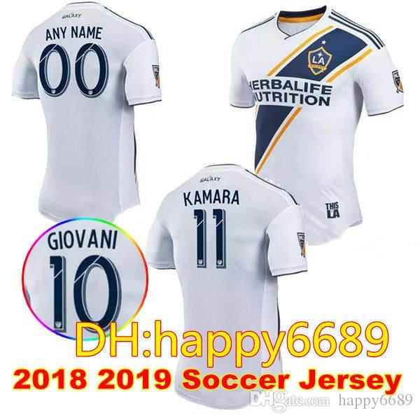 Thai Quality Men LA Galaxy Soccer Jersey 18 19 Away Blue Soccer Jersey 2017  2018 GERRARD ZARDES GIOVANI KEANE Home White Football Shirts LA Galaxy  Soccer . c7cfdce86