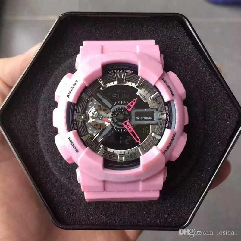 New 2018 Women Relojes De Mujer G Style Shock Watches Pink
