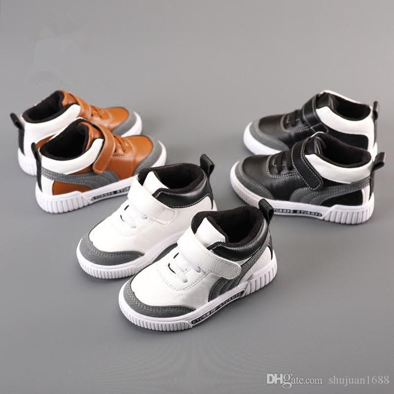 32a078f72f Children'S Sneakers Boys Shoes 2018 New Spring Autumn Baby Casual Sports  Shoes Plus Velvet Kids Comfortable Cotton Shoes Tide Canada 2019 From  Shujuan1688, ...