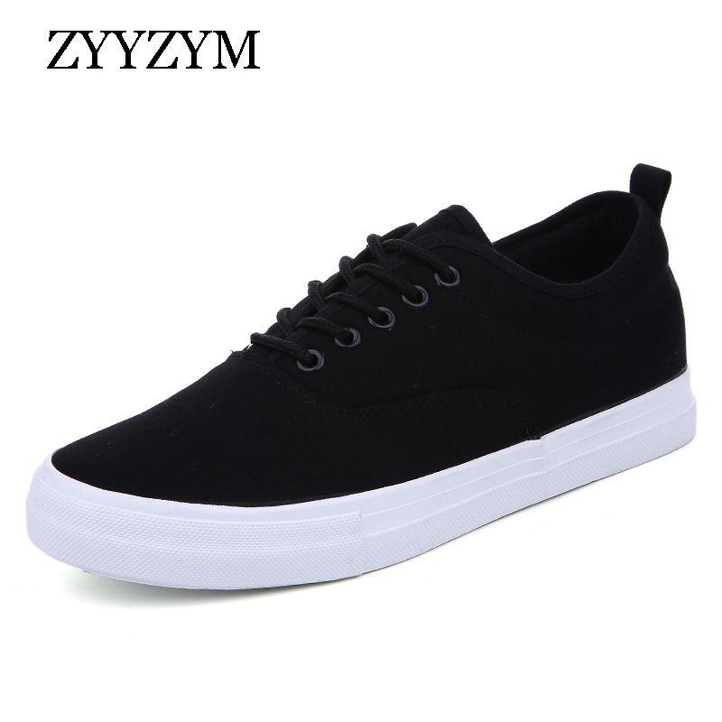 5f6376bc61bd 2019 ZYYZYM Men Shoes Lace-Up Classic Canvas Style Breathable ...