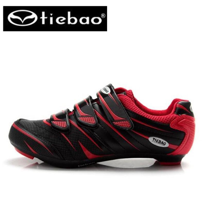 bbec37d1 TIEBAO Ciclismo Zapatos Para Hombres Bicicleta De Carretera Sapatilha  Ciclismo Transpirable Zapatillas De Bicicleta Hombres Zapatos Con Cierre  Automático ...