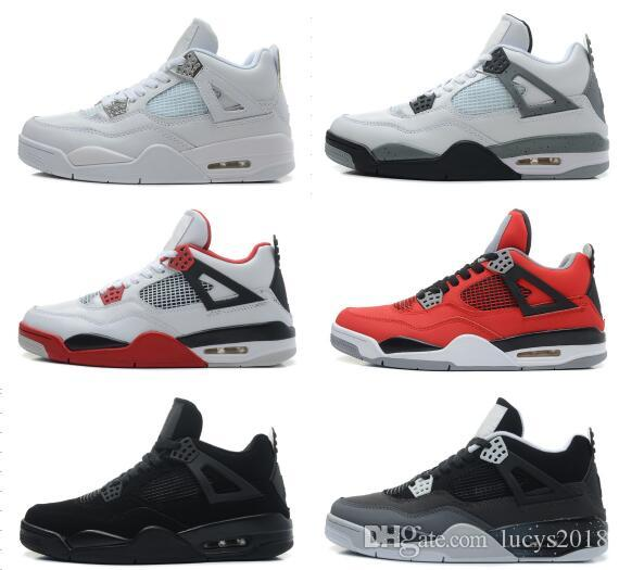 be7eb2189d8 2018 4 4s Basketball Shoes Men 4s Pure Money Royalty White Cement Premium  Black Bred Fire Red Mens Sports Sneakers Size 8 13 Girls Basketball Shoes  Best ...
