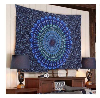Tapestry Bohemian Hippy Mandala Elephant Tapestry Wall Hanging ...