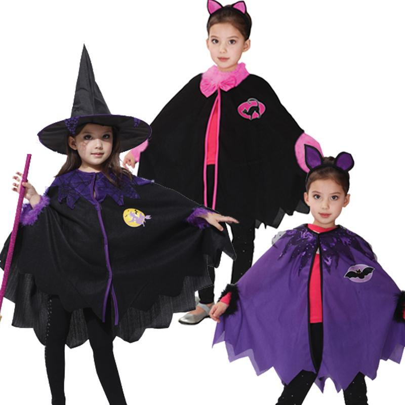 Halloween Costumes For Kids Girls 11 And Up.Children Halloween Witch Cloak Gown Robe Cosplay Costumes Coat Cloak Witch Hat Girl Party Costumes For Kid Chirstmas Dress Up