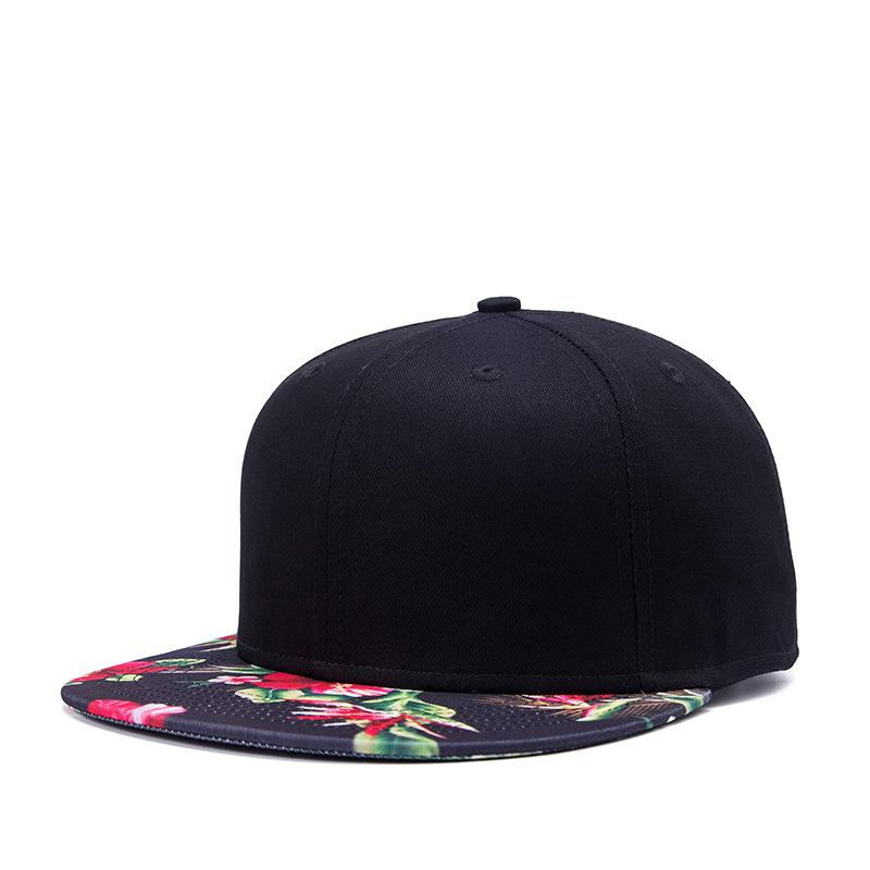 3f7938bd8e4 SNP Hip Hop Snapback Caps Men Dad Hat Women Cap Flower Print Straight Visor  Casual Hats Bones Solid Black Baseball Fitted Cap Flat Caps Trucker Caps  From ...