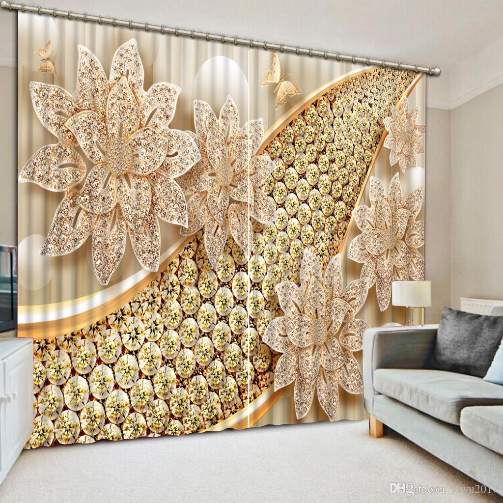 Tenda 3D gioielli di lusso finestra 3D Photo Custom Window