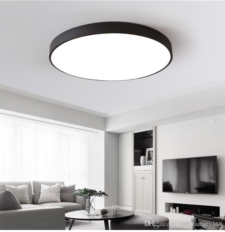 LED Deckenleuchte Warmweiß und Kaltweiß 12W 18W 24W Moderne Lampe  Wohnzimmer Leuchte Schlafzimmer Küche Aufputz Unterputz Panel