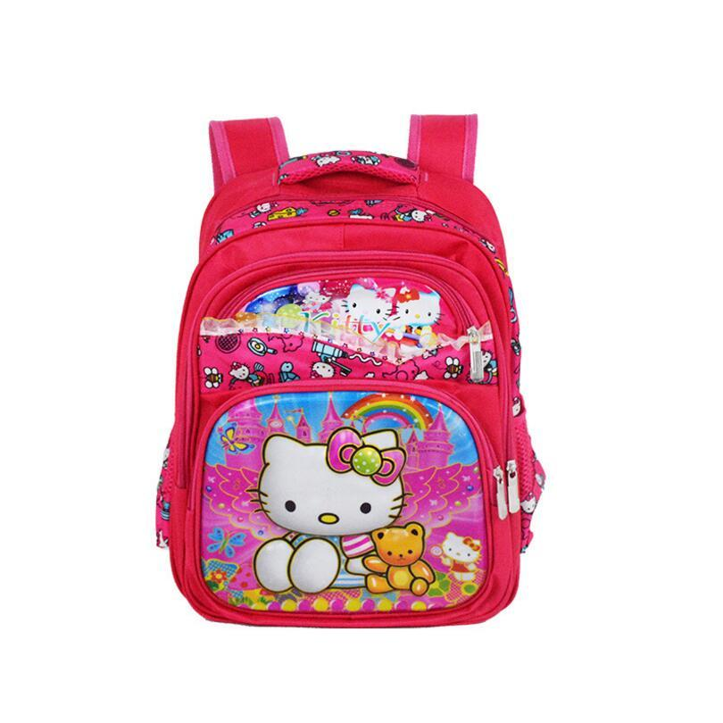 ... New Girls Cartoon Hello Kitty Schoolbag Kids Princess Hello Kitty  Waterproof Printing School Bags Dropshipping Boys ... cdc2d2243d9fc