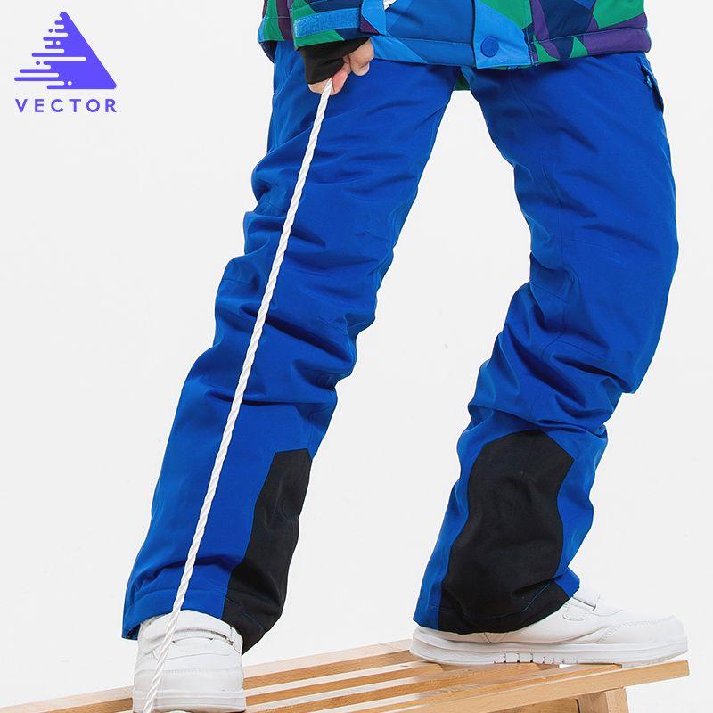 b31690b17 Children's Winter Ski Pants Windproof Overall Pants Tracksuits for Children  Waterproof Warm Kids Boys Snow Ski Trousers