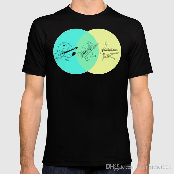 2018 New T Shirt Keytar Platypus Venn Diagram Shirt Latest T Shirt