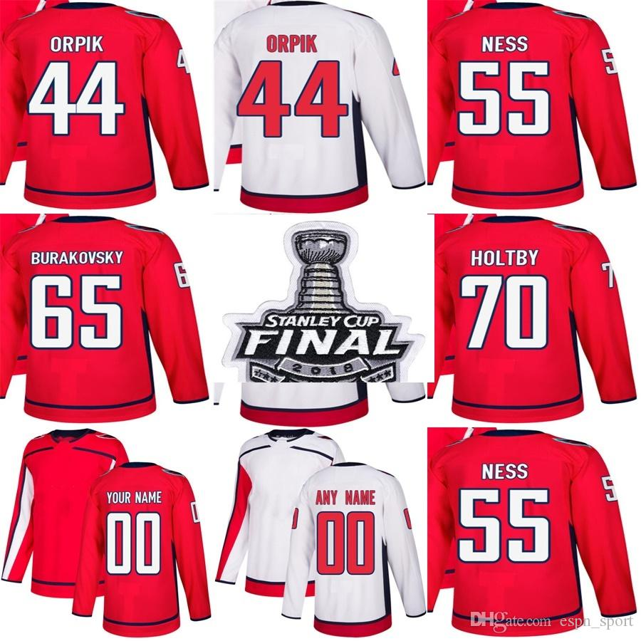 good 2018 stanley cup final washington capitals 44 brooks orpik 55 aaron  ness 65 andre burakovsky 027c25361