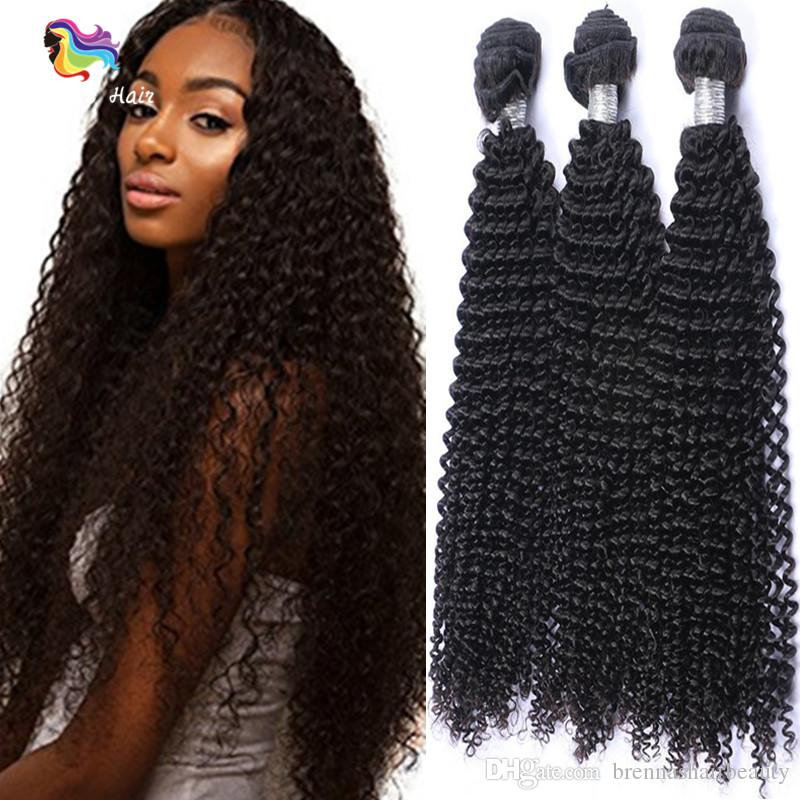 Unprocessed Brazilian Kinky Curly Virgin Hair Weave Bundles Deep