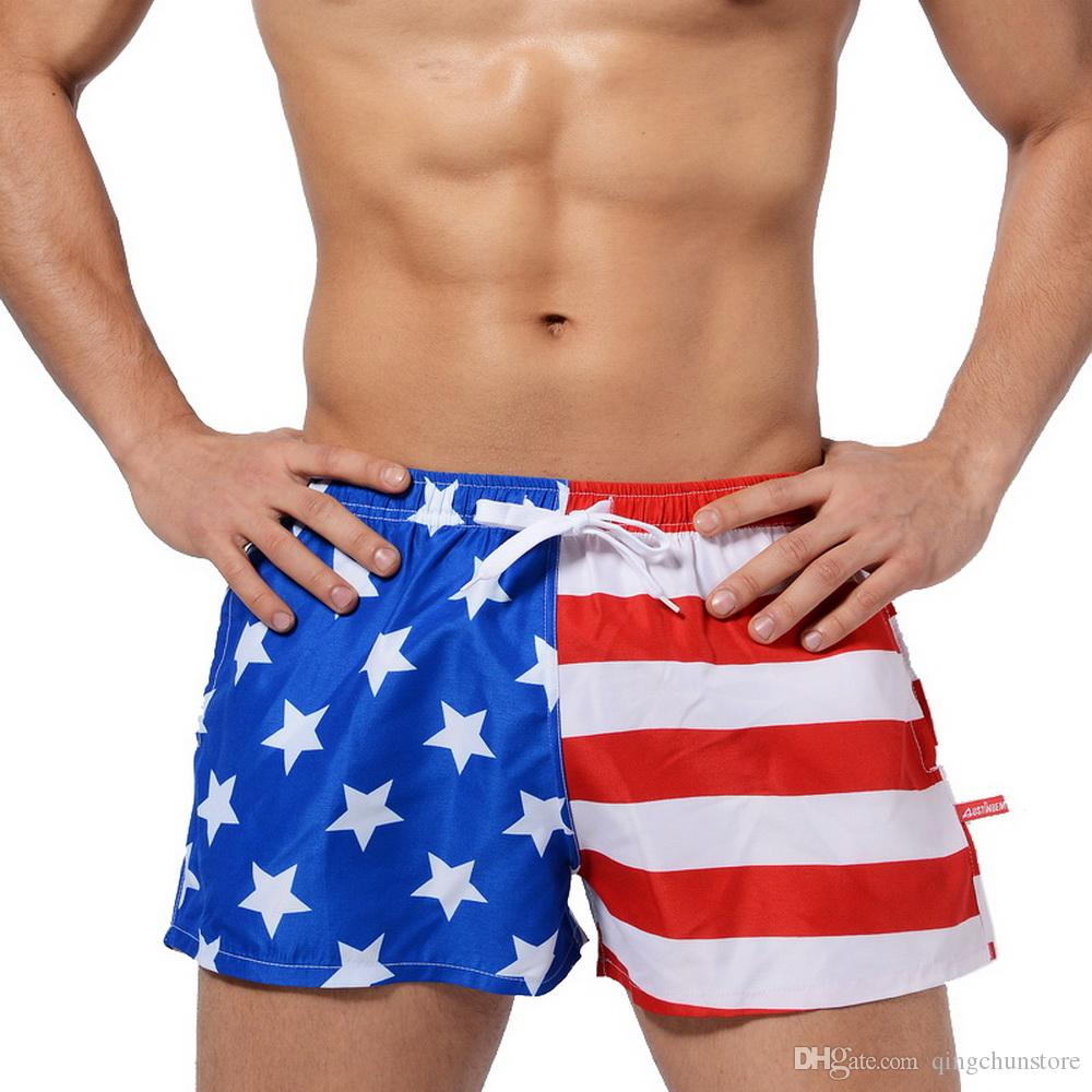 5fecd5bab2f6a Summer Swimsuit American Flag Men'S Beach Shorts Explosion Men'S Swimming  Trunks Street Beach Pants Men'S Swimwear UK 2019 From Qingchunstore, ...