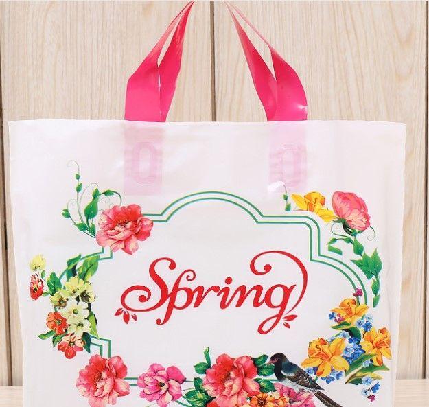 Plastic Garment Bags Wholesale Cartoon Portable Shopping Gift Bags ... 01621a9de8