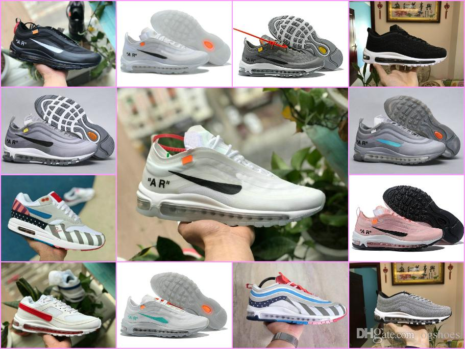 best cheap 13486 6e914 Compre 2018 AIR 97 OG Blanco 97s Hombre Mujer Corriendo Zapatillas 270  Zapatos Parra X Deportivo Diseñador Chaussures Tn Maxes Sneaker 36 46 A   89.82 Del ...