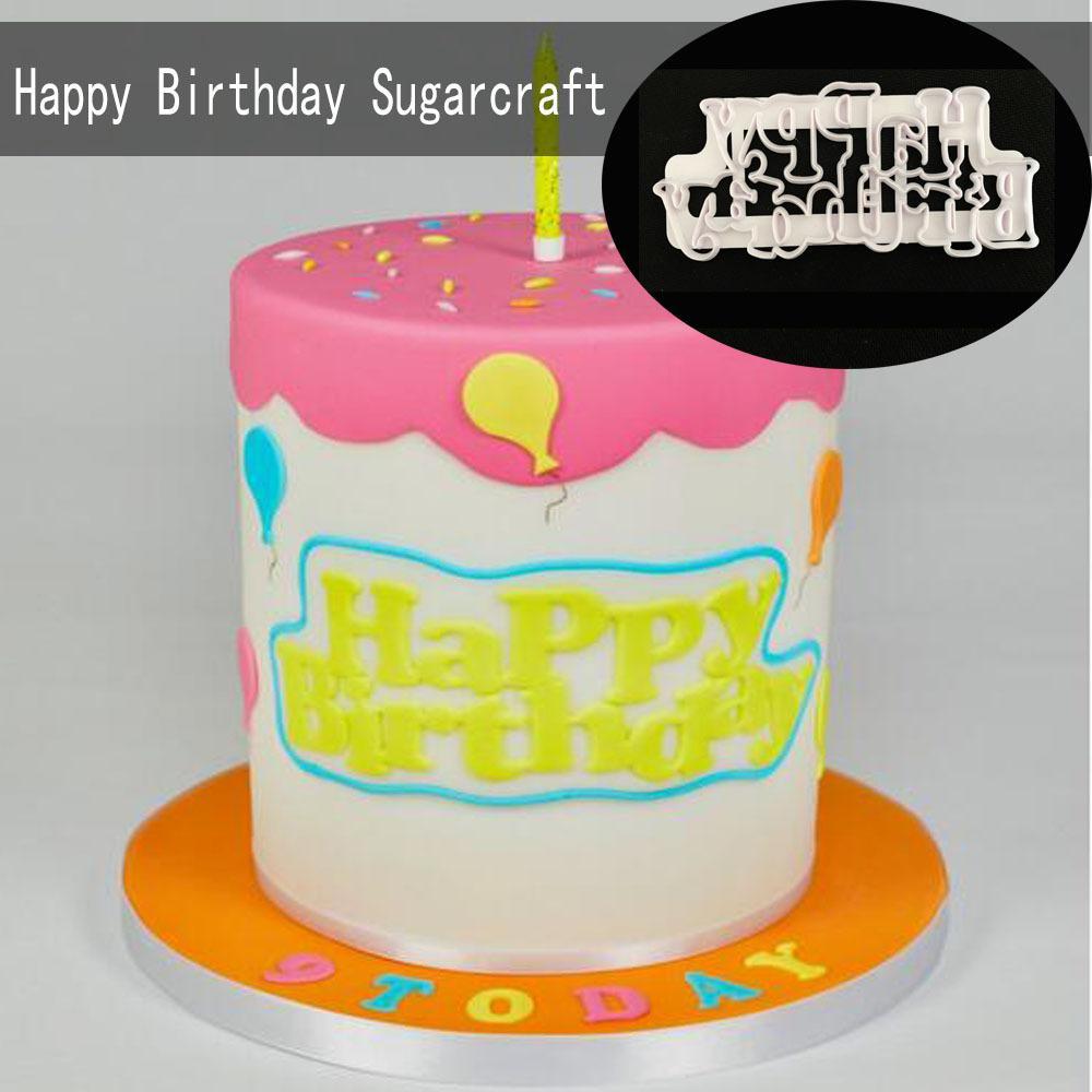 Grosshandel Alles Gute Zum Geburtstag Sugarcraft Form Kuchen