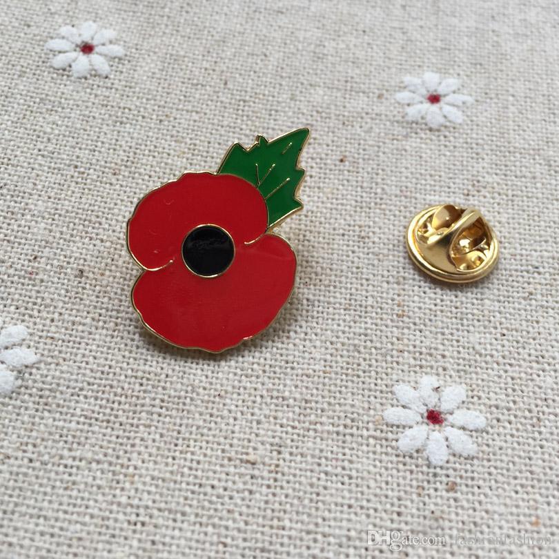 50pcs Custom Enamel Pins Brooches 1 Masonic Crested Poppy Freemason Lapel  Pin Badge Tiny Susie Remembrance Day