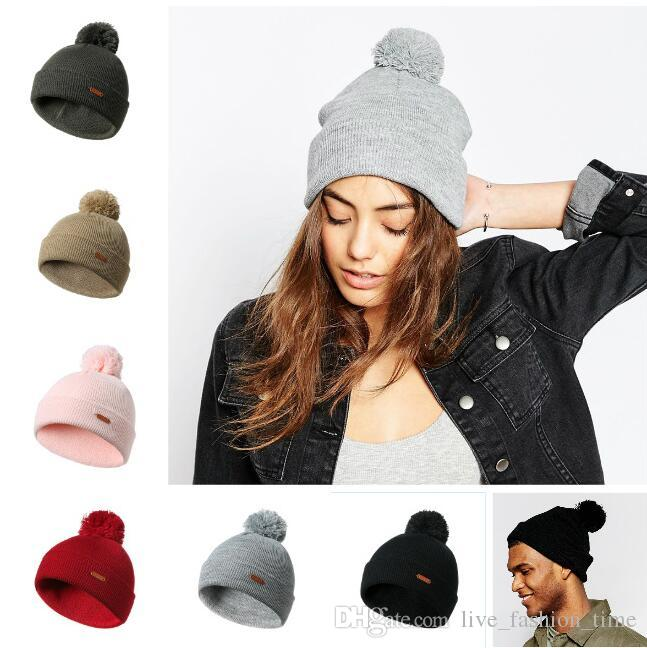 Beanies Winter Hats   Caps Women Men Knitted Wool Cap Men Casual Unisex  Solid Color Hip Hop Skullies Beanie Warm Hat Unisex Cap Gorros Bonne Slouch  Beanie ... b2f28f9b3594