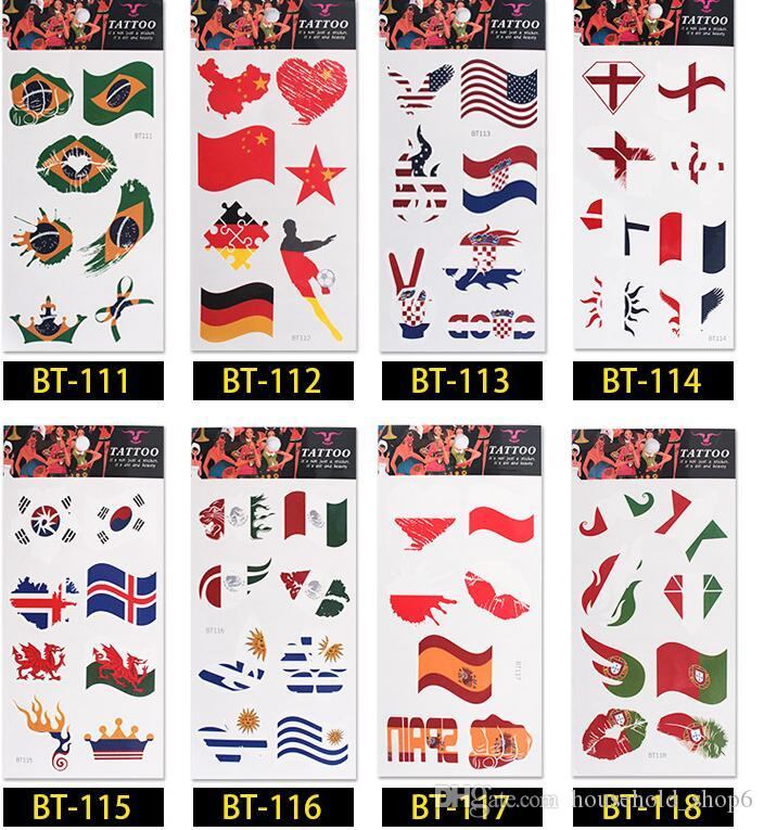 DHL national Tattoo European 2018 Russia World Cup sticker Carnival cute Facial body hand tattoos Banner Flags Health and safety tattoos