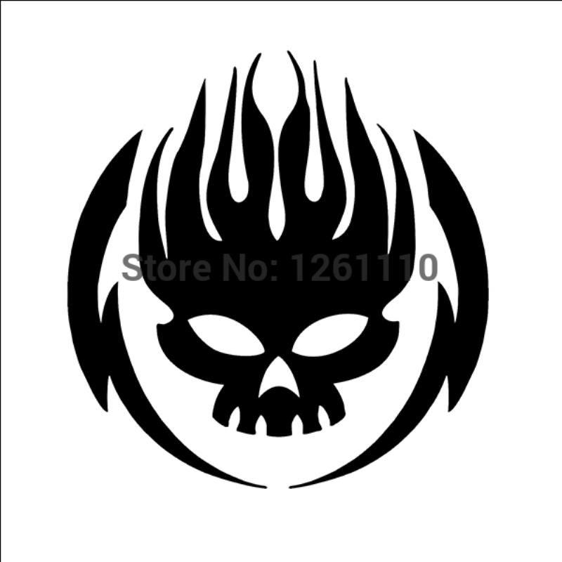 HotMeiNi Wholesale 20pcs/lot Skull fire skeleton vinyl sticker truck car  window Bumper Helmet Skateboard Laptop Locker Glass
