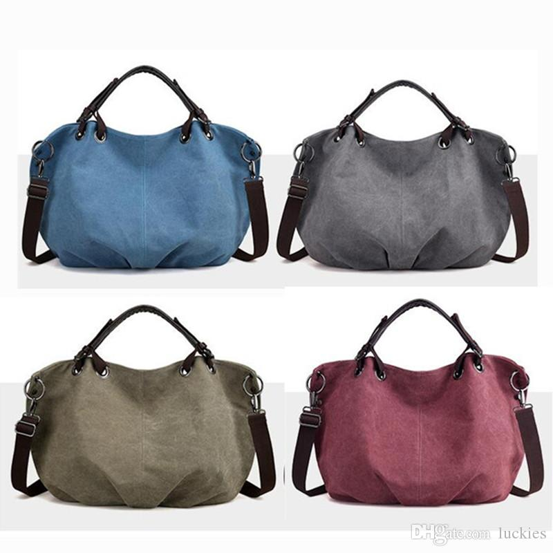 526a3d1d18 Women European Style Canvas Large Tote Top Handle Bag Shopping Hobo  Shoulder Bag Messenger Bag Purse Large Size 0337 Purses For Women Bags For  Sale From ...