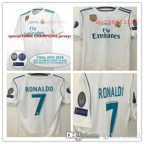 hot sale online 20cbe 85122 2018 Champions League Champion league Real madrid jersey 2018 RONALDO  soccer jerseys 17 18 ramos maillot BALE ASENSIO MODRIC football shirt