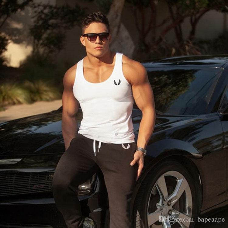 Men's Vest Muscle Fitness Brothers Outdoor Summer Running Print Sports Training Word Vest Clothing