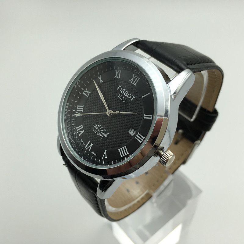 9f2ba751a24 Compre Homens Marca De Luxo 1853 Pulseira De Couro Nova Moda Casual Relógio  De Quartzo Relógio De Marca De Luxo Dos Homens Relógio À Prova D  Água  Montre ...