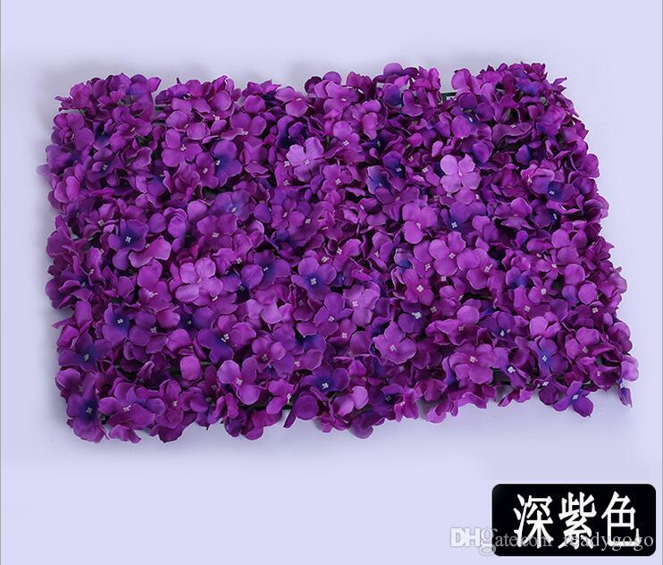 Artificial Hydrangea Flower Wall Size About 40*60cm Creative Wedding Stage Props Silk Rose Tracery Wall Encryption Floral Background