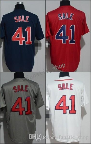 b3bdaff38 2018 Flexbase Boston  41 Chris Sale Home Away Baseball Jersey White Red  Blue Grey Cool Base Stitched Jerseys Jerseys Online with  19.84 Piece on ...