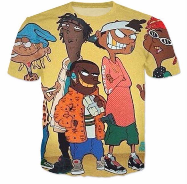 Compre 2018 Nueva Moda Camiseta Hombres   Mujeres 3d Camiseta Impresión  Dibujos Animados Ed Edd N Eddy Trampa Divertida Casual Camisetas A  11.21  Del ... c20dc8fde72