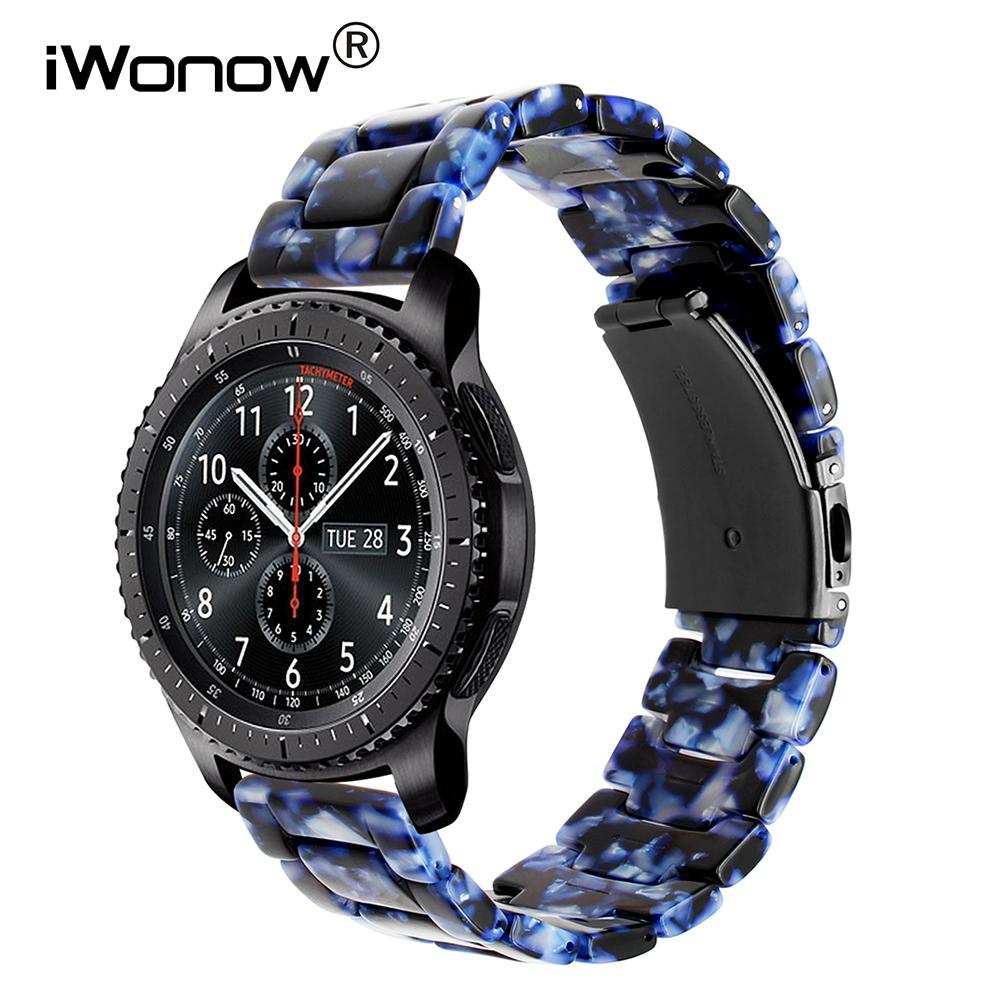 4b777501c37 Quick Release Resin Watchband for Samsung Gear S3 Classic Frontier ...