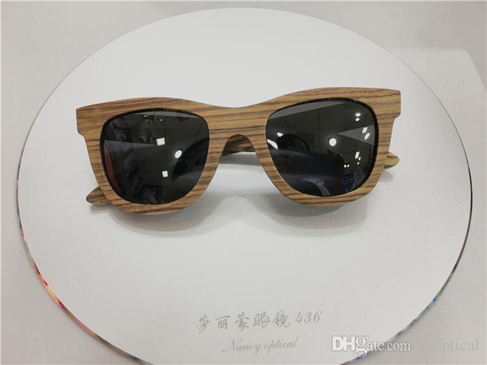 55b717868c6 High Quality Men Women Designer Sunglasses With Bamboo Wood Square ...