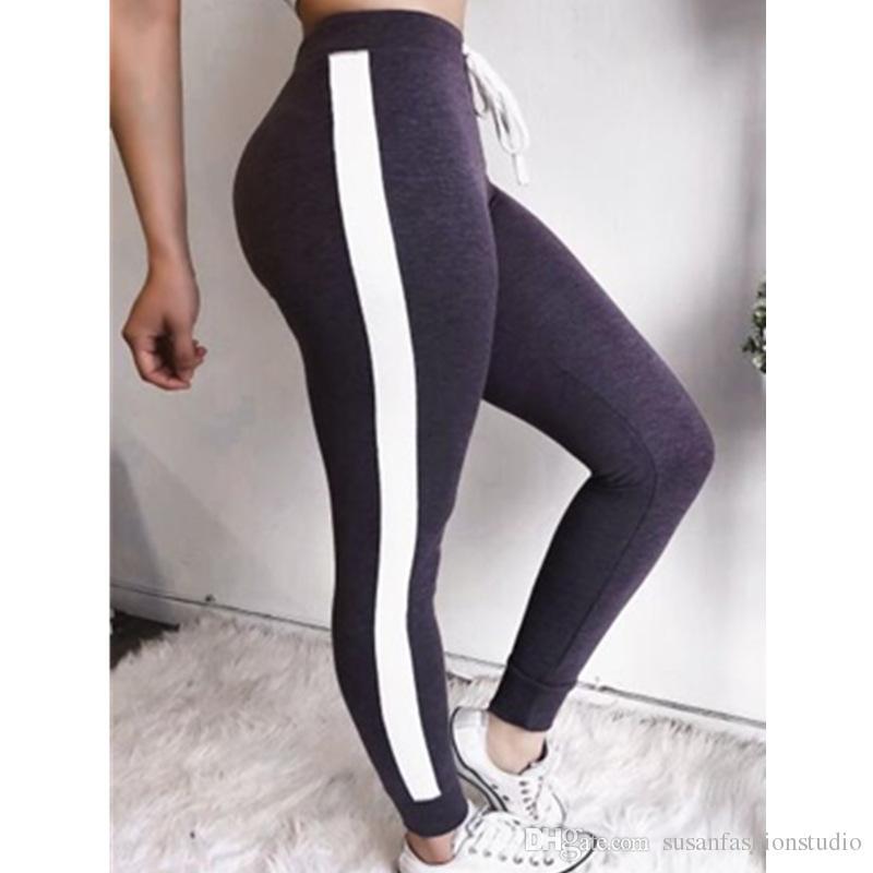 Exercício deve para esportes e executar calças leggings Esporte fino Elastic waistband pants Leggings das mulheres