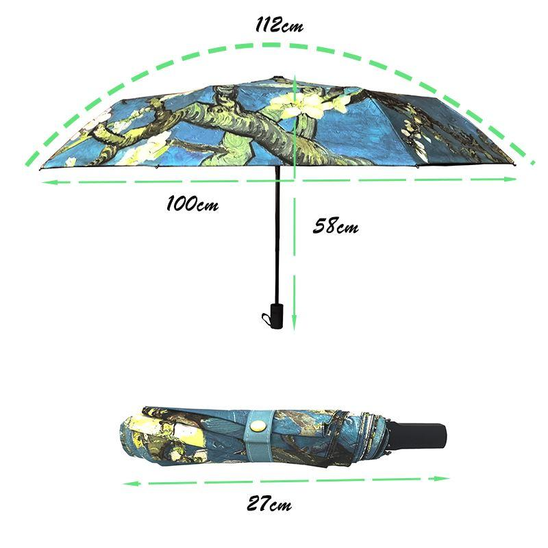 Chinese Art Sakura Umbrellas Female Folding Umbrella Rain Women Windproof High Quality Anti-UV Sun Parasol YHS03