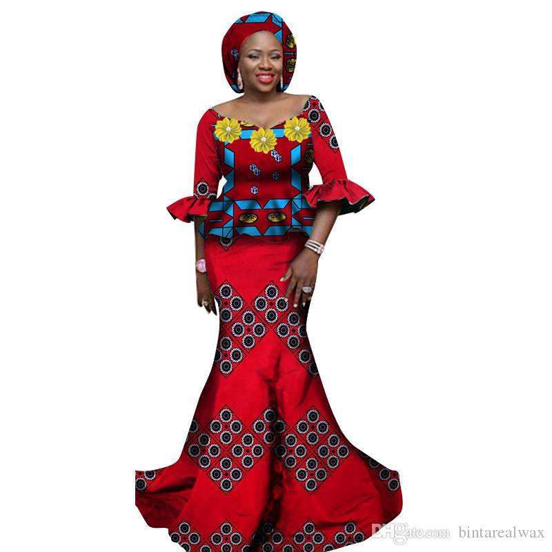 8803682b4a6f Acquista Abbigliamento Donna Abbigliamento Donna Set 2 Pezzi Top E Gonne  Lunghe Africane Abito Lungo Club Dress Dashiki Abiti Stampati WY1178 A   46.54 Dal ...