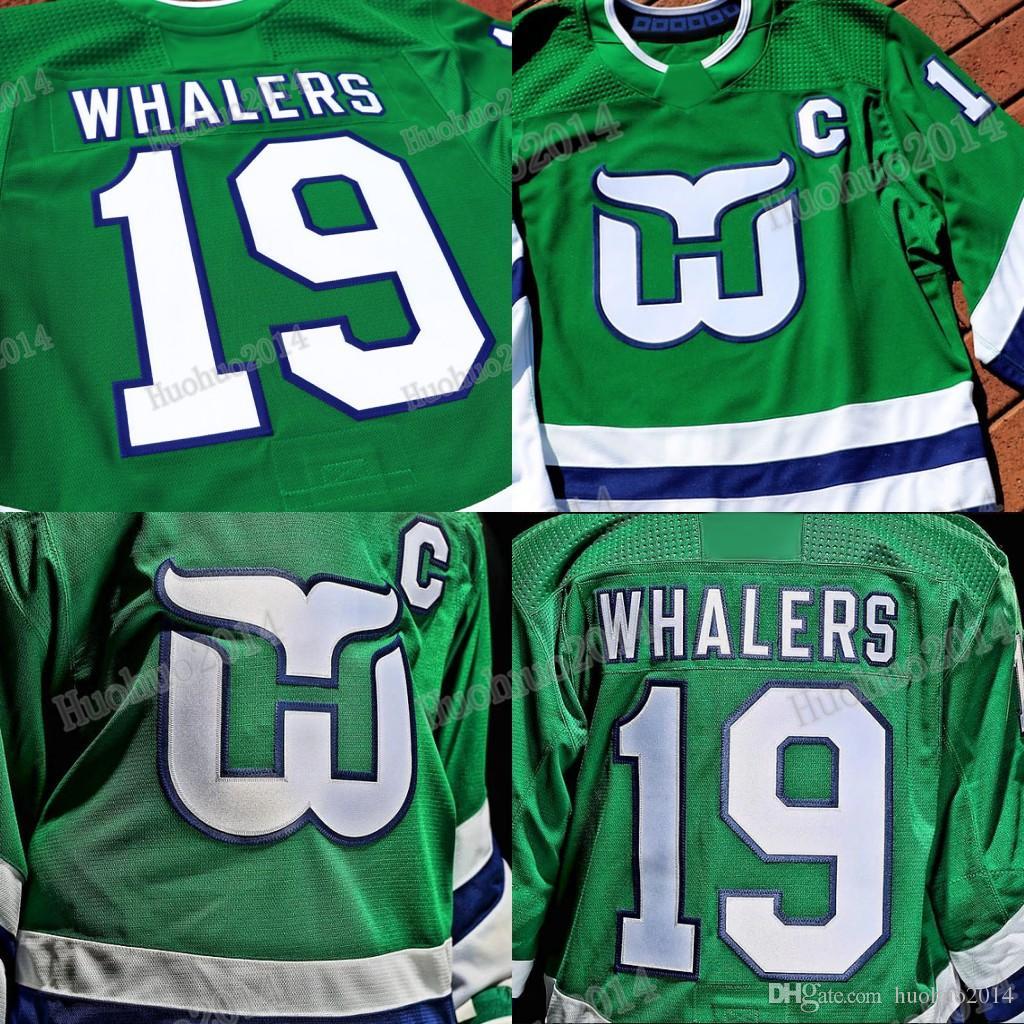 2019 New Third Hartford Whalers Jerseys 10 Ron Francis Jersey 11 Kevin  Dineen 16 Patrick Verbeek 9 Gordie Howe Custom Hockey Jerseys Hartford  Whalers ... c076d2737