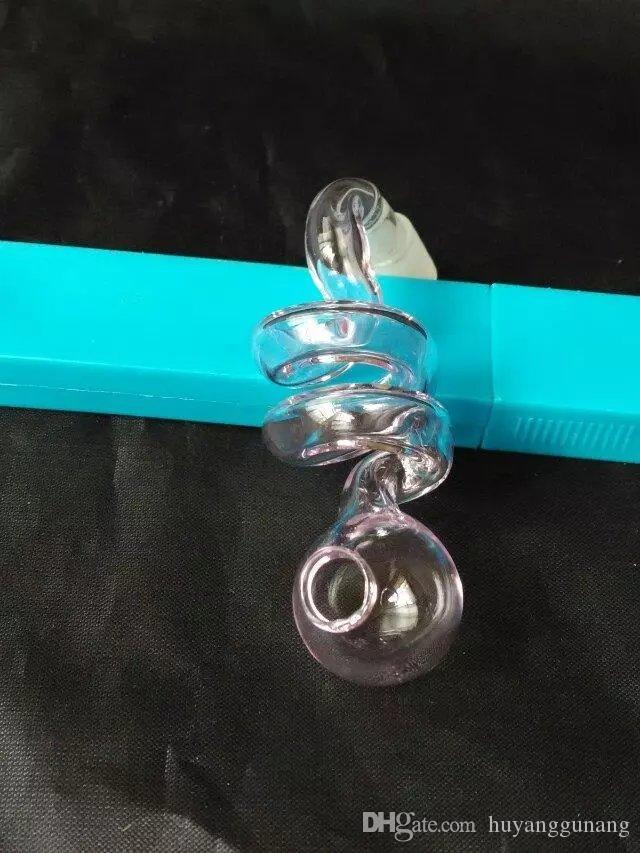 Le nouveau pot de verre en spirale rose en gros bongs en verre Brûleur à l'huile en verre Pipes d'eau plates-formes de l'huile sans fumée