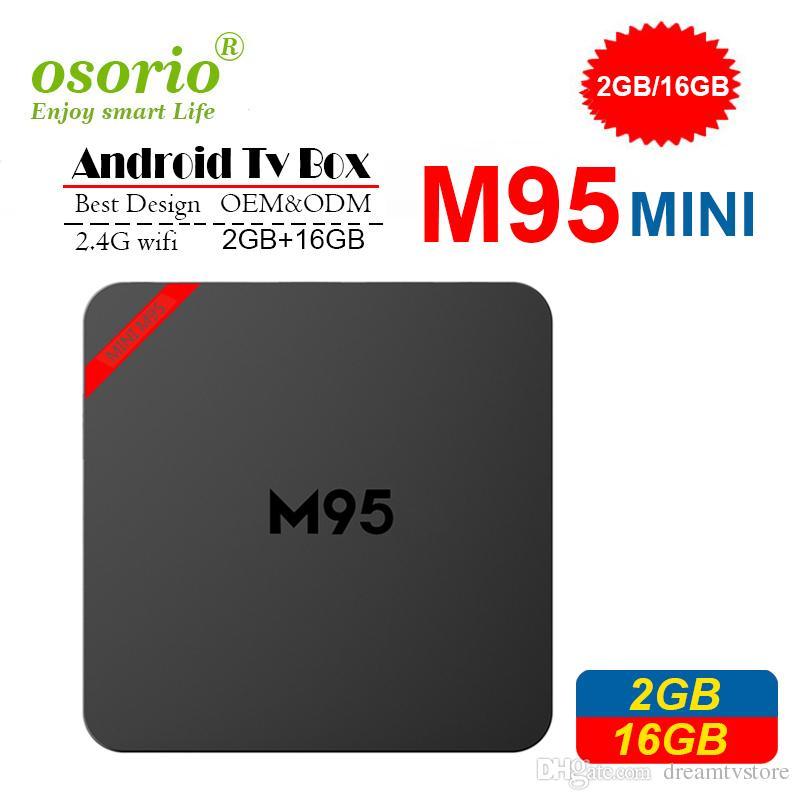 2019 Android TV Boxes 2gb 16gb M95 MINI Android 7 1 TV Box Quad Core better  than Amlogic S905W TX3 Mini X96 MINI T95 S905X TV Box