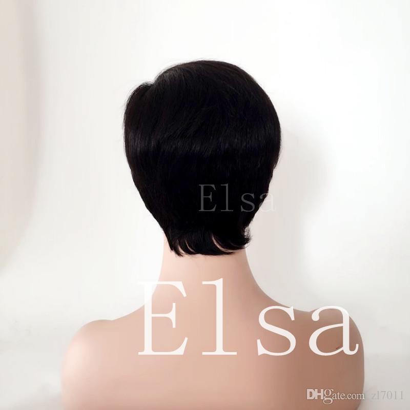 Brazilian Virgin Human Hair side a Little Lace Front Wigs Glueless Short Bob Human Hair Wigs With Baby Hair For Black Women