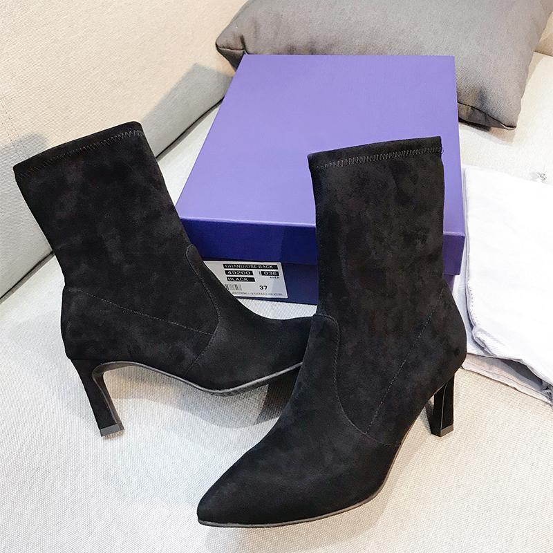 Grosshandel Spitz Stiefel High Heels Klassische Elegante Modemarke