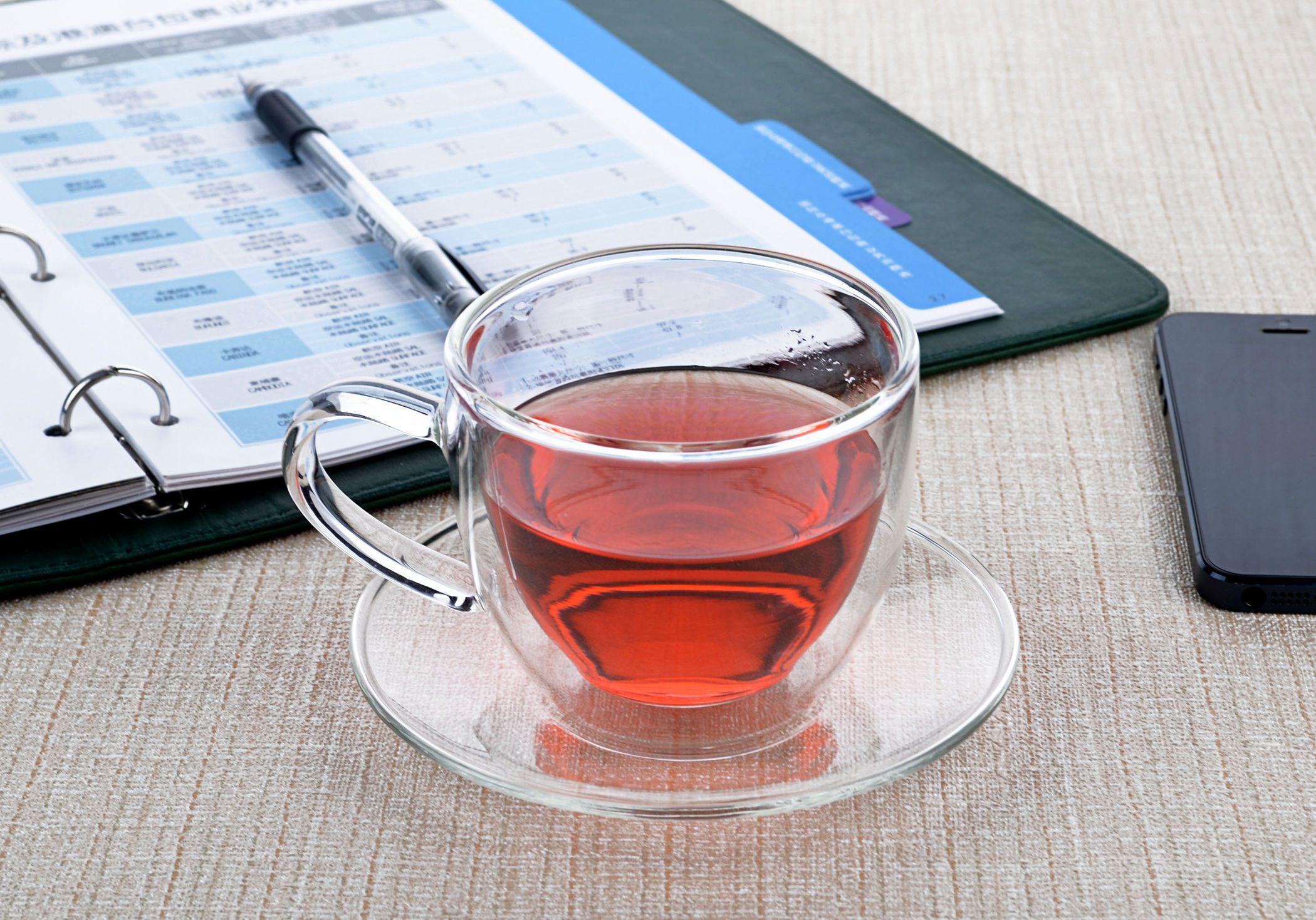 50 ml double paroi tasse de th/é en verre tasse de th/é ensemble de th/é en verre r/ésistant /à la chaleur verre coupe en verre