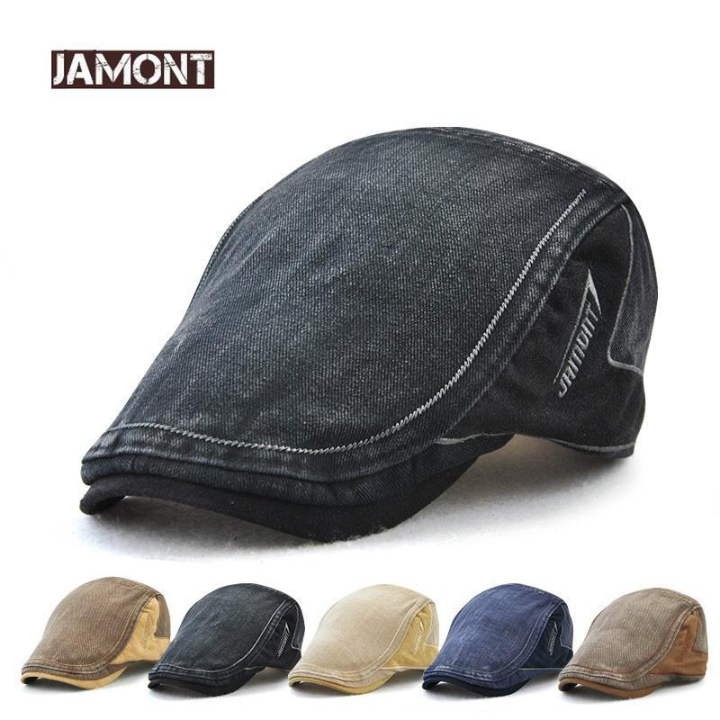 Acquista JAMONT 2018 New Coon Retro Style Visiera Uomo Caps Berretti  Cappello Uomo Visiera Berretto Leer Patch Berretto Adulto Casuale Piatto  Cappelli ... c973d1acddb4