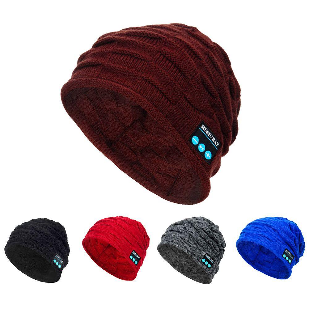 2019 Wonter Unisex Bluetooth Wireless Smart Beanie Hat Handsfree Music  Speaker Winter Hats For Women Czapka Zimowa Winter Hat New From Pineappleg 70c182e123d