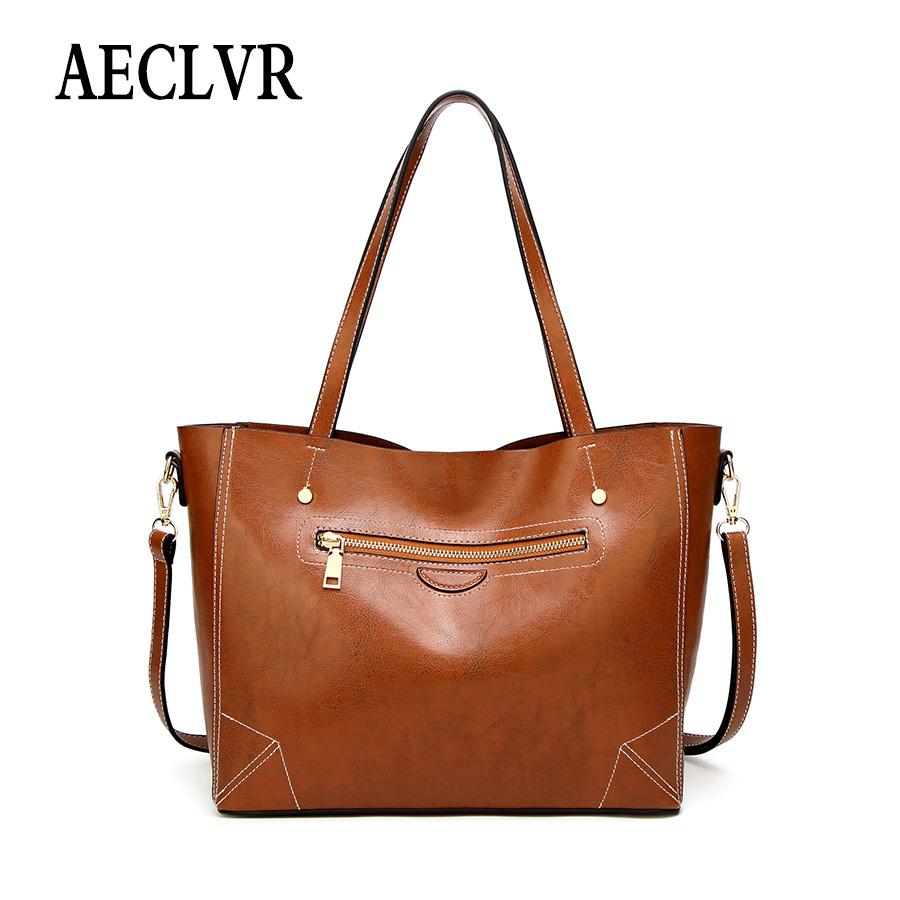 dbb8972ff555 AECLVR Soft Pu Leather Crossbody Bags For Women Business Shoulder Bag  Simple Style Female Patchwork Casual Totes Daily Handbags Shoulder Bags  Cheap Shoulder ...