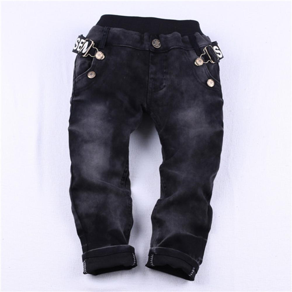 HE Hello Enjoy boys jeans spring winter children casual letters belt zipper pocket jeans denim long pants trousers Designed Pant