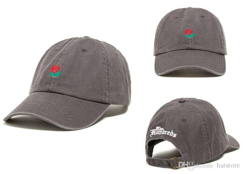 7a121a93857 The Hundreds Rose Baseball Cap Snapback Hats Fashion Design Brand Rose Dad Hat  Sports Hip Hop Sun Golf Hat Bone Gorras Cheap Mens Casquette Hats For Men  ...