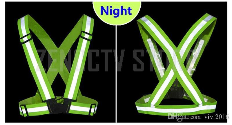/ gilet de sécurité réfléchissant bandes élastiques ceinture de travail uniformes construction trafic entrepôt visibilité sécurité nuit jogging Runn