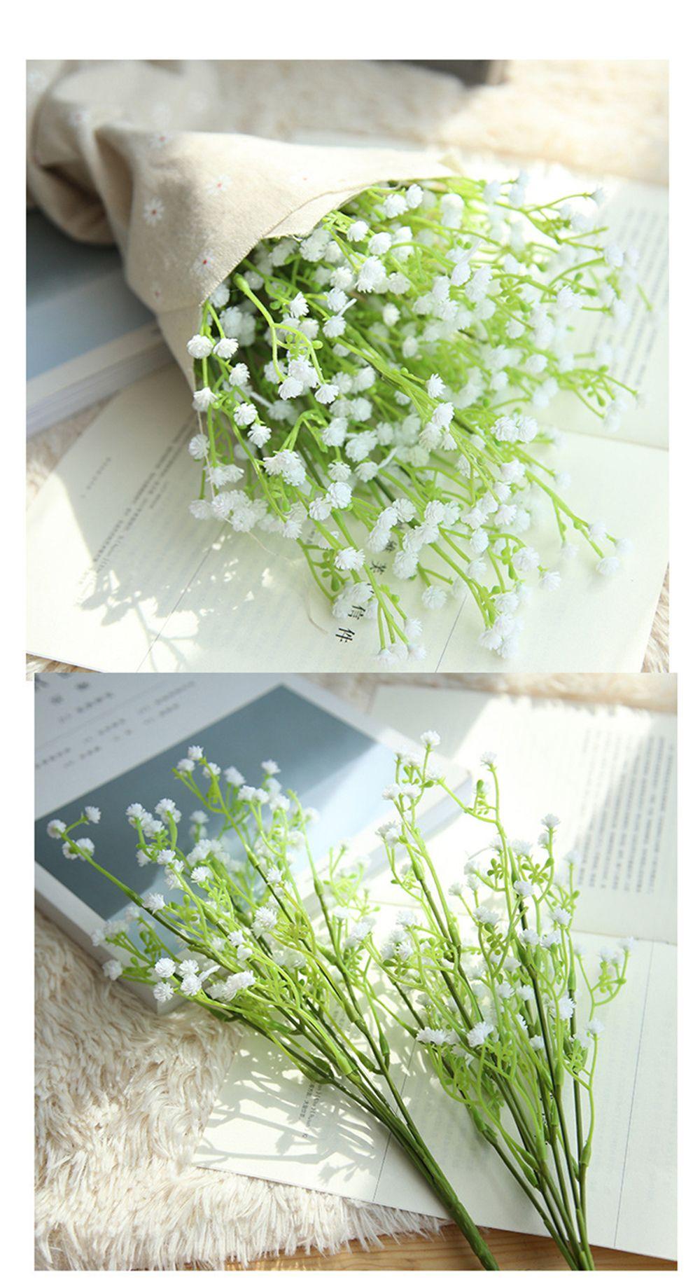 New Arrival Fake Wedding Flowers Decoration White Artificial Babysbreath flowers White Wedding Bouquet Artificial Gypsophila paniculata