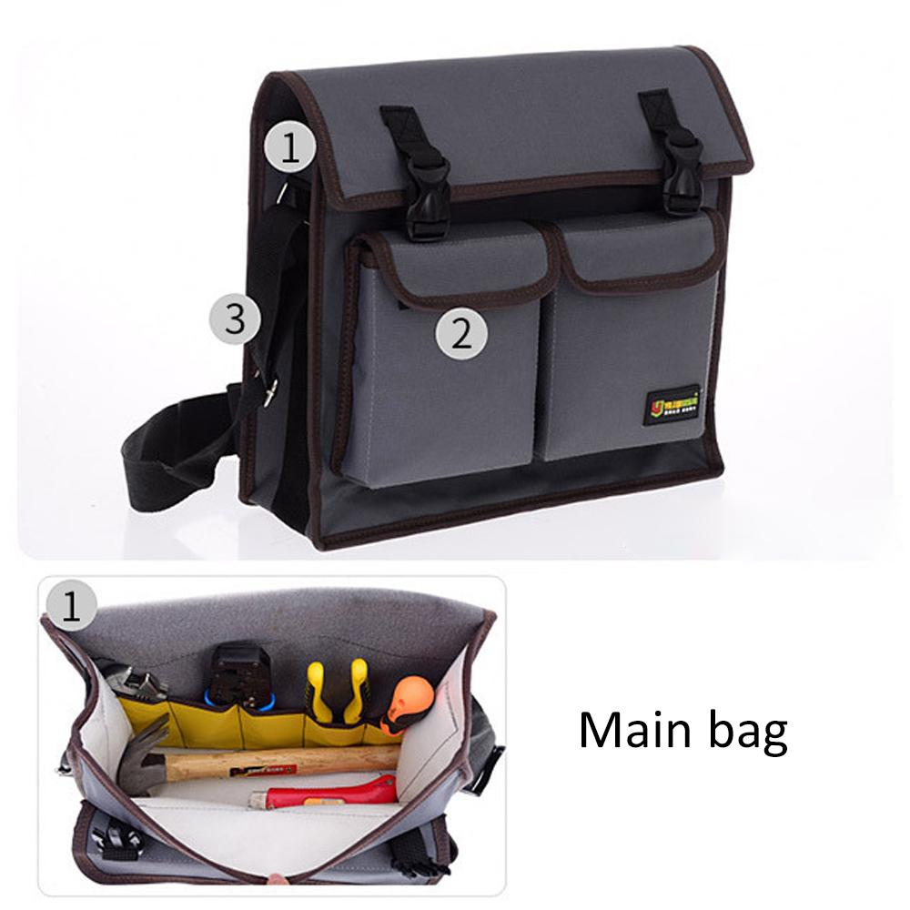 Multitul Waterproof Oxford Cloth Single Shoulder Messenger Bag Hardware Repair Electrician Tool Bag Large Toolkit